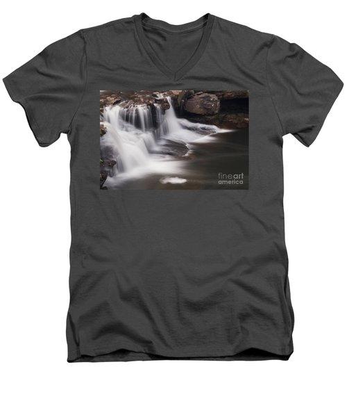 Brush Creek Falls Men's V-Neck T-Shirt by Mel Petrey