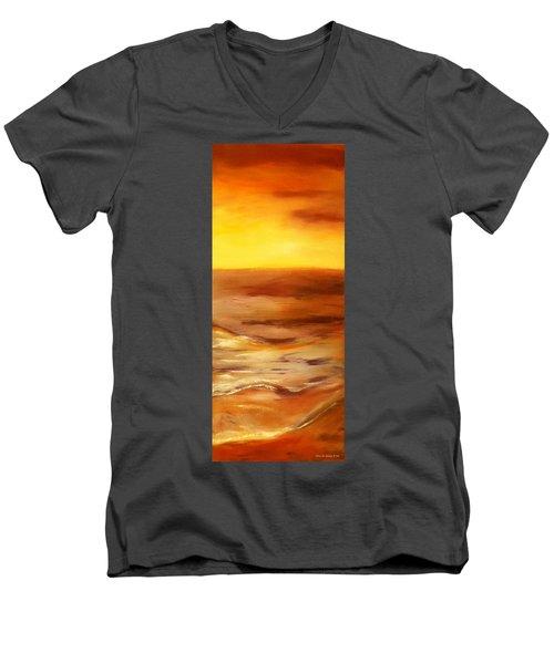 Brushed 5 - Vertical Sunset Men's V-Neck T-Shirt