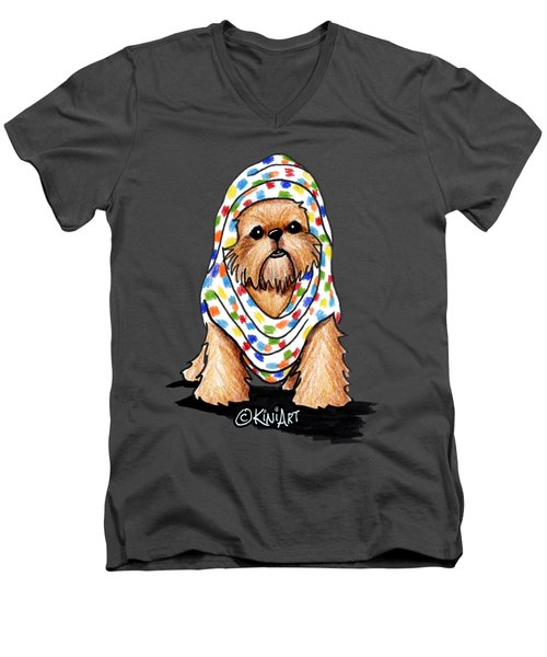 Brussels Griffon Beauty Men's V-Neck T-Shirt by Kim Niles