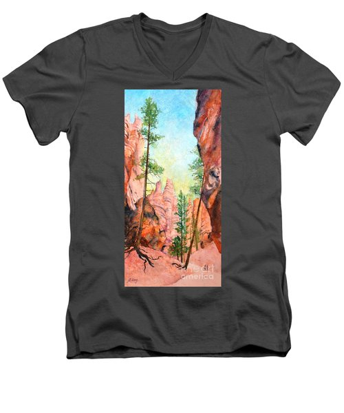 Bryce Canyon #2 Men's V-Neck T-Shirt by Betty M M Wong