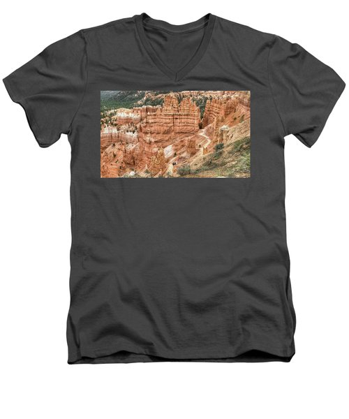 Bryce Canyon Men's V-Neck T-Shirt by Geraldine Alexander