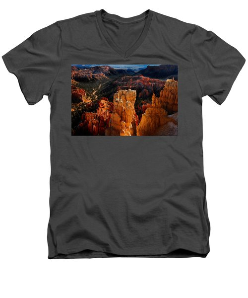 Men's V-Neck T-Shirt featuring the photograph Bryce Canyon by Harry Spitz
