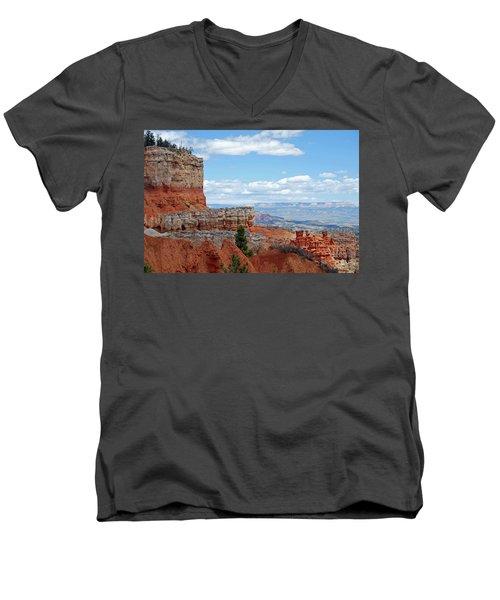 Bryce Canyon Men's V-Neck T-Shirt by Nancy Landry