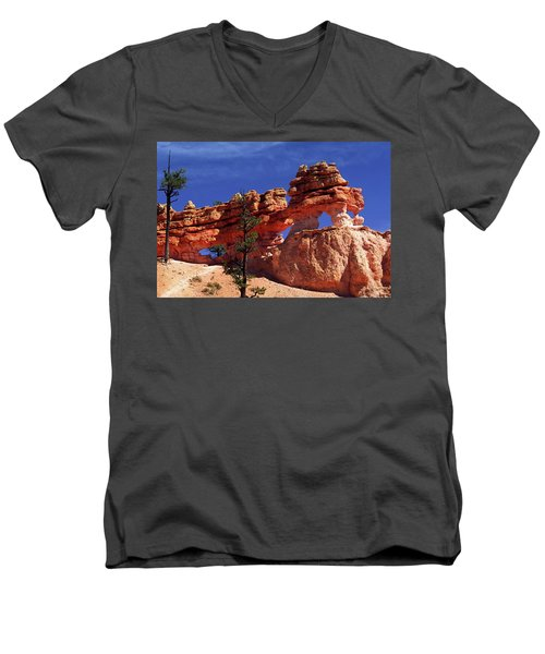 Bryce Canyon National Park Men's V-Neck T-Shirt by Sally Weigand