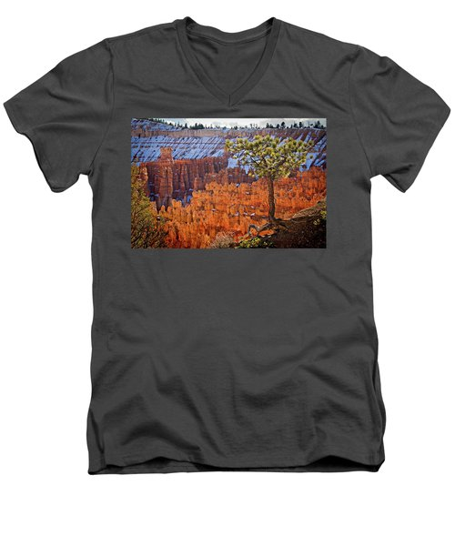 Men's V-Neck T-Shirt featuring the photograph Bryce Canyon by Wesley Aston