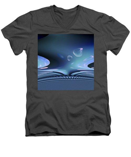 Bubble Abstract Men's V-Neck T-Shirt