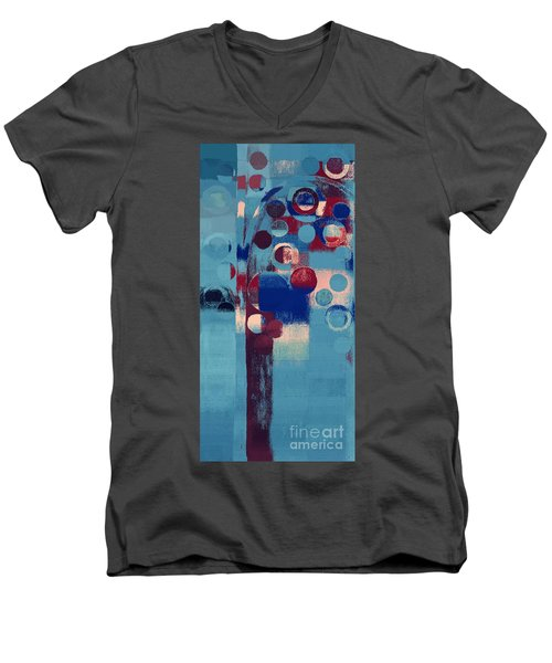 Men's V-Neck T-Shirt featuring the painting Bubble Tree - 85l-j4 by Variance Collections