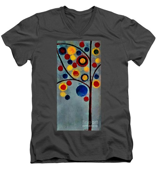 Bubble Tree - Dps02c02f - Left Men's V-Neck T-Shirt