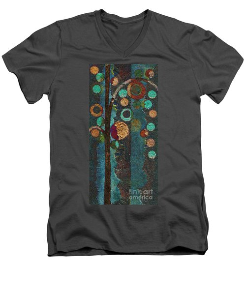 Bubble Tree - Spc02bt05 - Right Men's V-Neck T-Shirt by Variance Collections