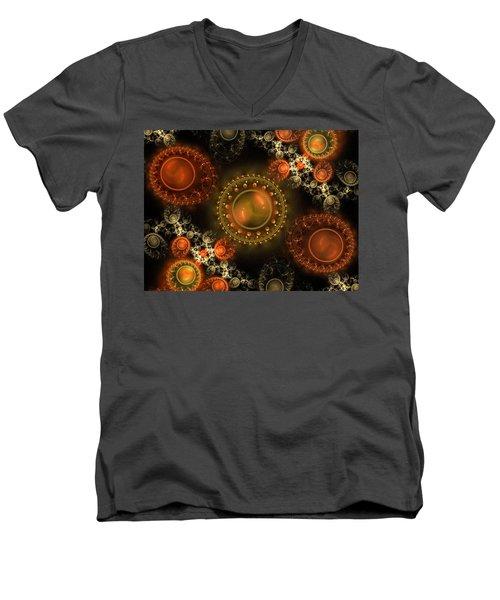 Bubbles Men's V-Neck T-Shirt by Ester Rogers