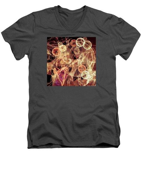 Bubbles On The Run Men's V-Neck T-Shirt