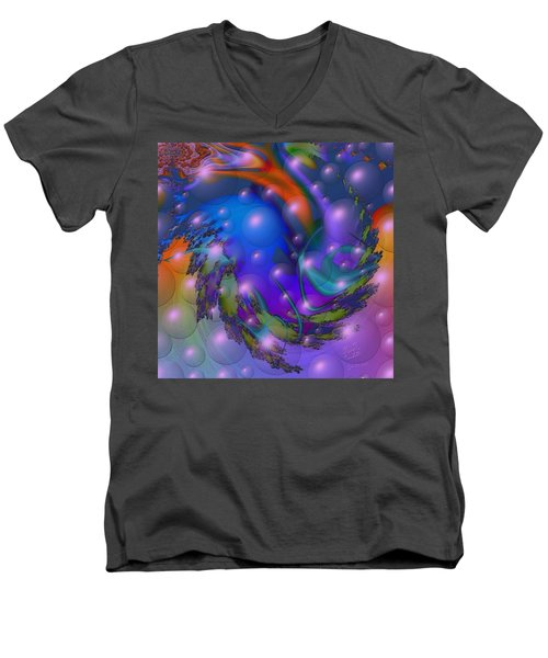 Bubbling Over With Enthusiasim Men's V-Neck T-Shirt by Kevin Caudill