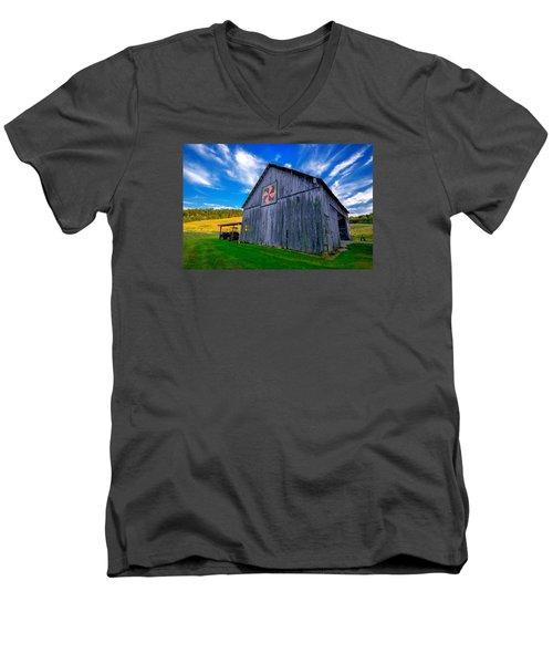 Buckeye Barn 2 Men's V-Neck T-Shirt