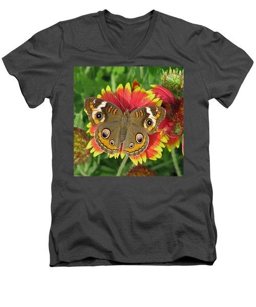 Buckeye On Blanketflower Men's V-Neck T-Shirt
