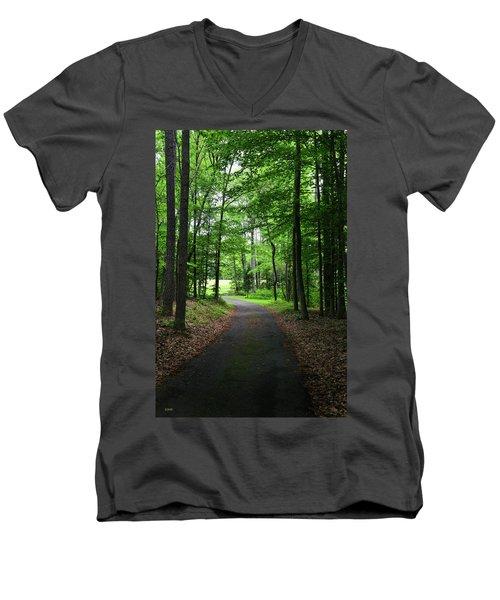 Buckner Farm Path Men's V-Neck T-Shirt by Dana Sohr