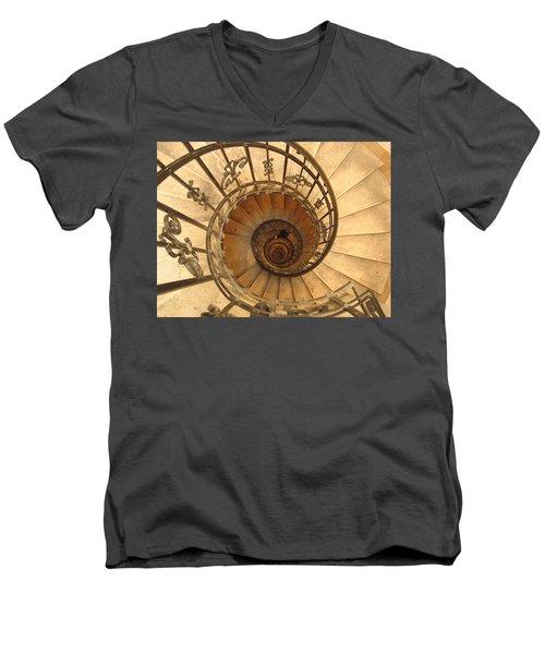 Budapest Staircase Men's V-Neck T-Shirt