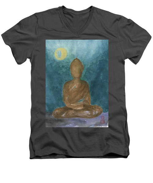 Buddha Abstract Men's V-Neck T-Shirt