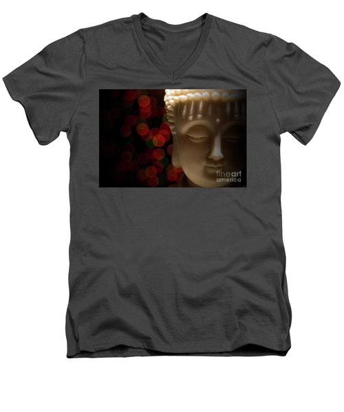Men's V-Neck T-Shirt featuring the photograph Buddha by Brian Jones