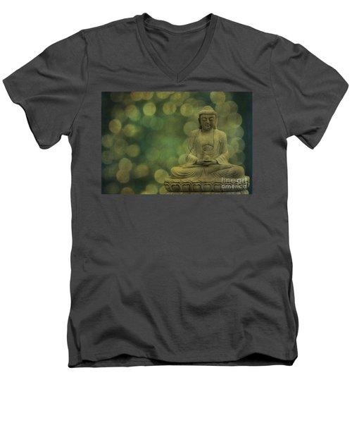 Buddha Light Gold Men's V-Neck T-Shirt