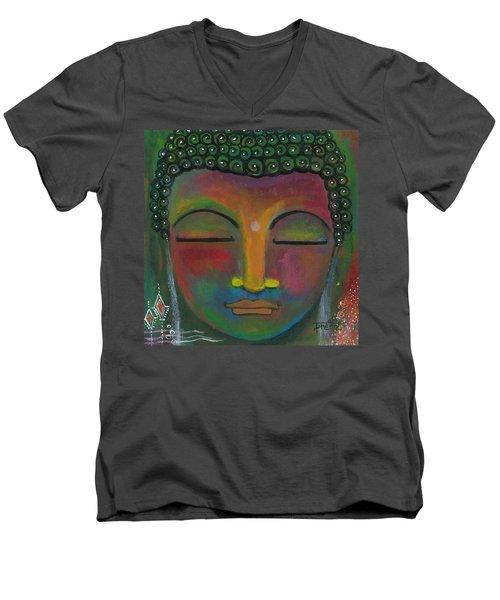 Buddha Painting Men's V-Neck T-Shirt