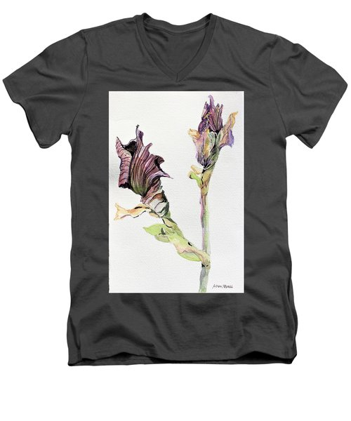 Budding Irises Men's V-Neck T-Shirt
