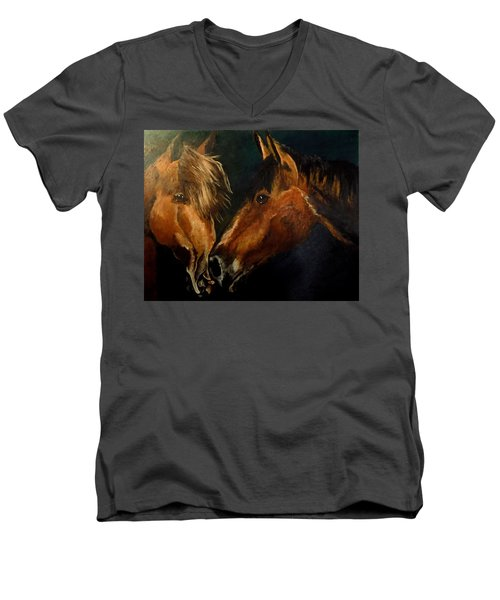 Buddy And Comet Men's V-Neck T-Shirt by Maris Sherwood