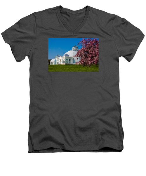 Buffalo Botanical Gardens North Lawns Men's V-Neck T-Shirt by Don Nieman