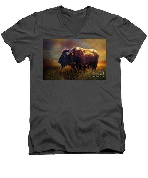Buffalo Cow Men's V-Neck T-Shirt