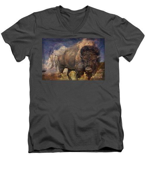 Buffalo Medicine 2015 Men's V-Neck T-Shirt