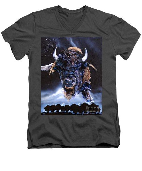 Buffalo Medicine Men's V-Neck T-Shirt