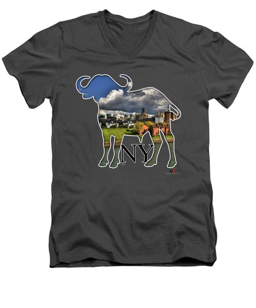 Buffalo Ny Along The Marina Men's V-Neck T-Shirt