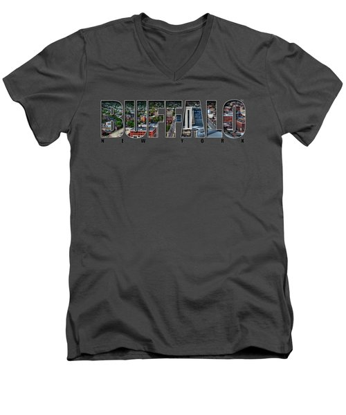 Buffalo Ny Niagara, Elmwood And Delaware Men's V-Neck T-Shirt
