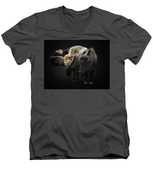 Buffalo Men's V-Neck T-Shirt