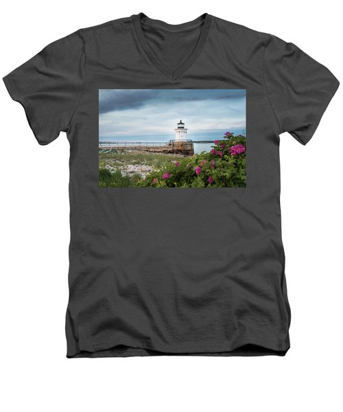 Bug Light Blooms Men's V-Neck T-Shirt
