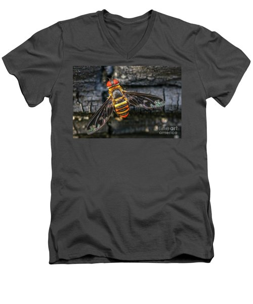 Bug With Red Eyes Men's V-Neck T-Shirt by Tom Claud