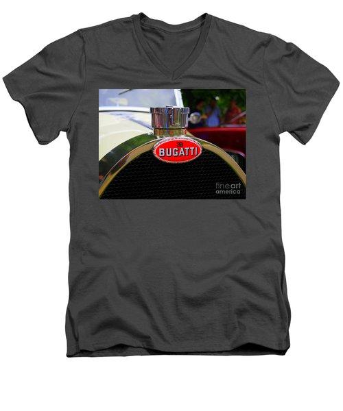 Bugatti Red Men's V-Neck T-Shirt