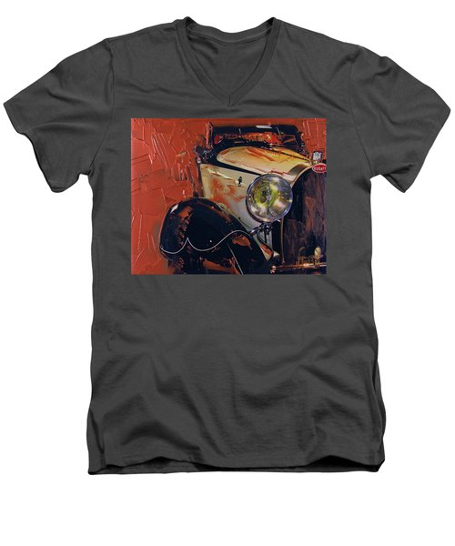 Bugatti Type 43 Roadster Luxe 1929 1 Men's V-Neck T-Shirt by Walter Fahmy
