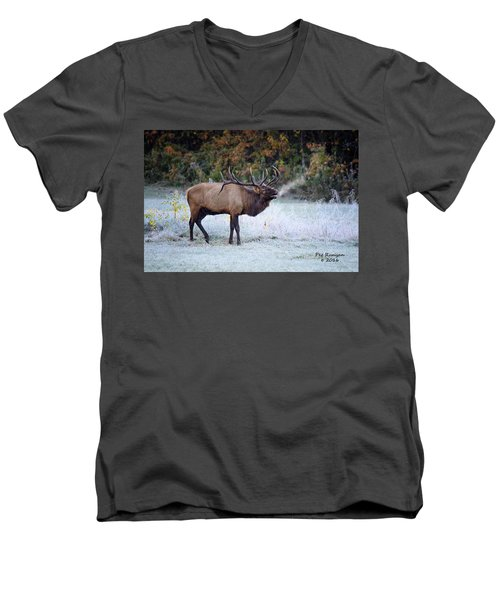 Bugle Of The Elk Men's V-Neck T-Shirt