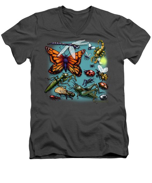 Bugs Men's V-Neck T-Shirt by Kevin Middleton