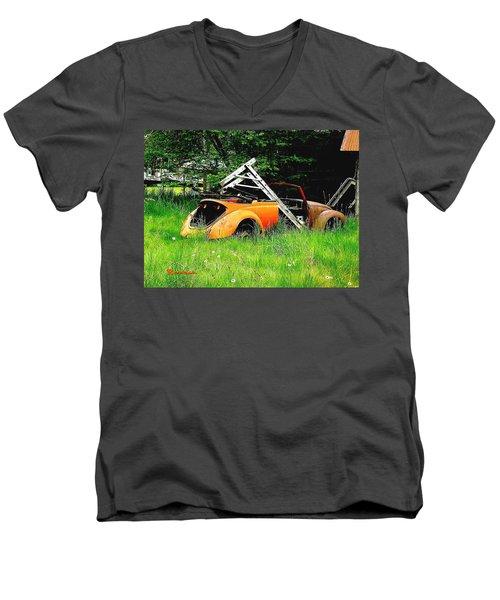 Bugsy Men's V-Neck T-Shirt by Sadie Reneau