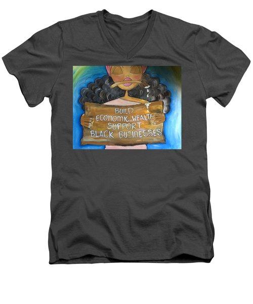 Build Men's V-Neck T-Shirt