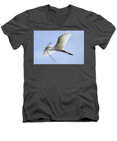 Building A Home Men's V-Neck T-Shirt by Gary Wightman