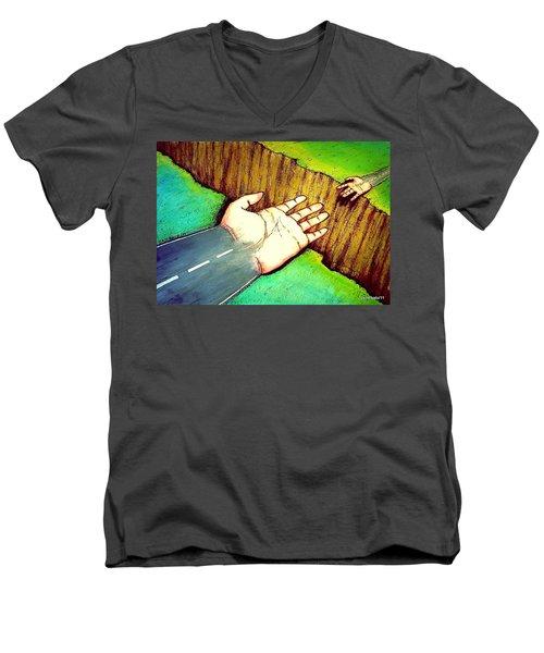Building Bridges Men's V-Neck T-Shirt