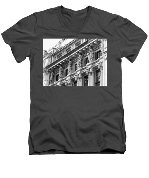 Building Men's V-Neck T-Shirt by Silvia Bruno