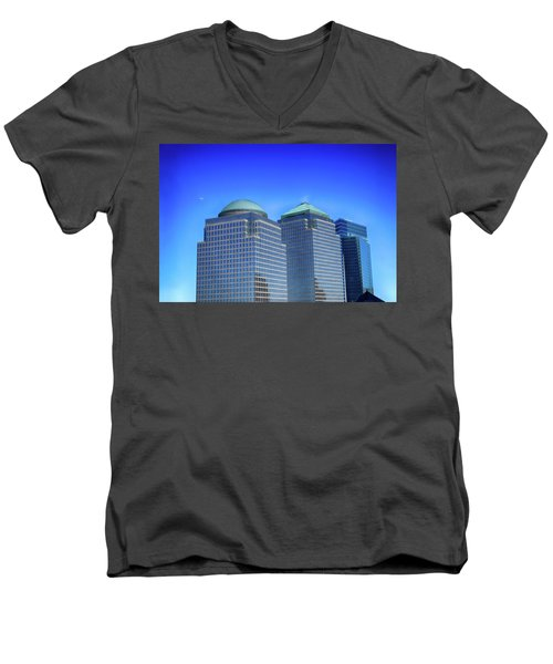 Buildings 2,3,4 In New York's Financial District Men's V-Neck T-Shirt