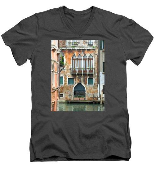 Buildings Of Venice Men's V-Neck T-Shirt by Lisa Boyd