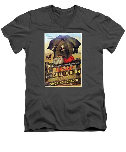 Bull Durham Smoking Tobacco Men's V-Neck T-Shirt