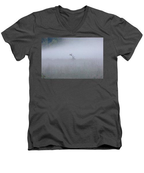 Bull Elk In Fog - September 30, 2016 Men's V-Neck T-Shirt