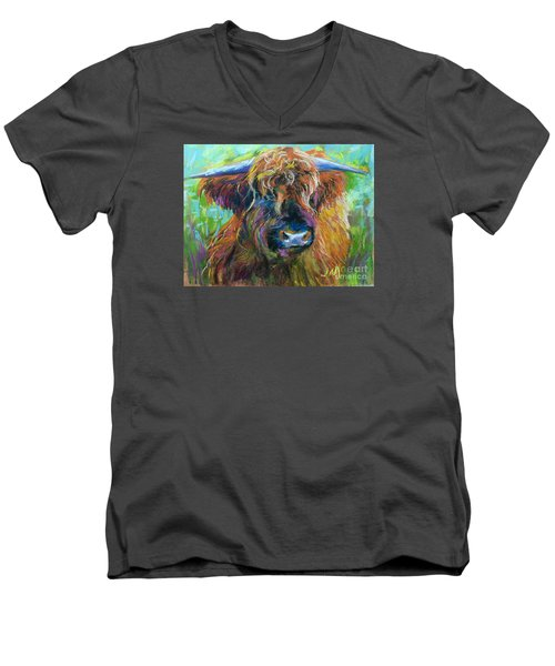 Bull Men's V-Neck T-Shirt