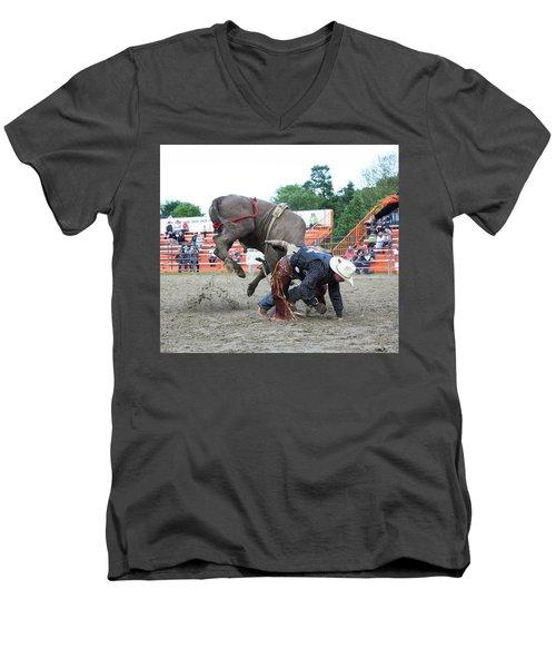 Bull Riding Action Men's V-Neck T-Shirt